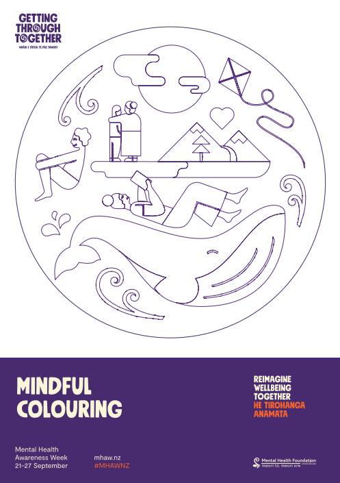 Mindful colouring MHAW