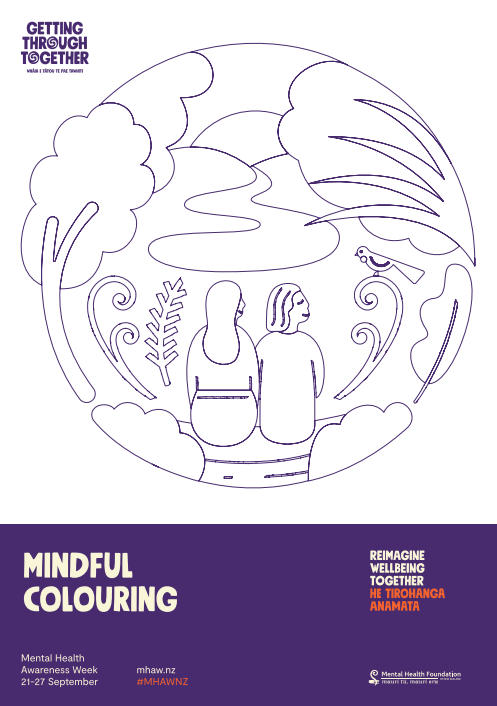 Mindful colouring nature